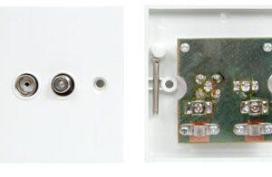"""Twin Flush F"""" & TV Socket"""""""