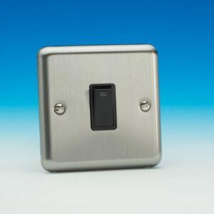 Varilight 20a D/Pole Switch Neon Chrome White Insert