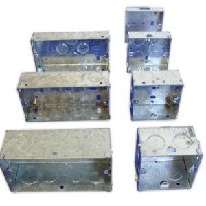 Single 47mm Flush Metal Box