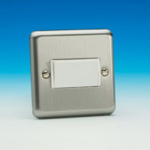 Varilight Chrome 3Pole Fan Isolator Sw.White Insert