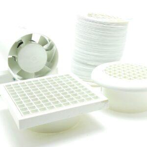 "4"" Timer Fan Kit C/W Ducting & Vents"