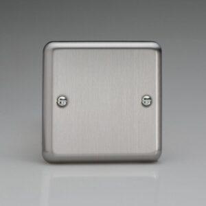Varilight Single Blank Plate Chrome