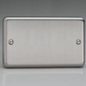 Varilight Twin Blank Plate Chrome