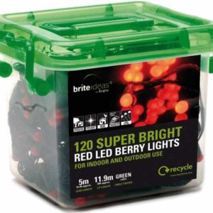 120 Led Multi Function Red Berry